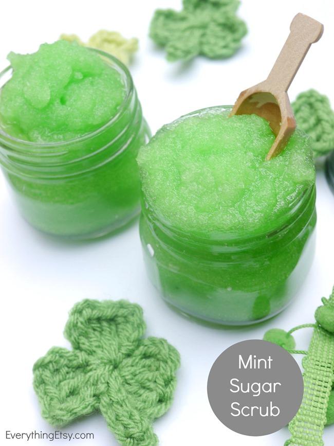 DIY Mint Sugar Scrub - Great Gift Idea!  EverythingEtsy.com