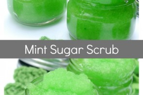 DIY Mint Sugar Scrub