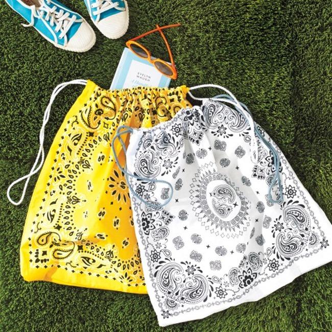 Spring sewing tutorials - bandanna bags