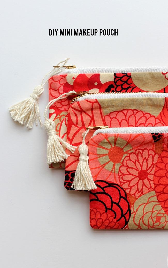 Spring sewing tutorials - zippered bag