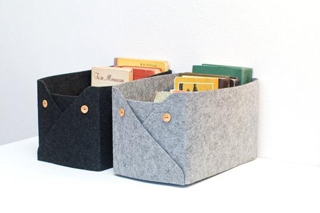 craft room felt crate storage on Etsy