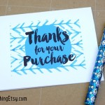 Free Printable Thank You Cards {Etsy Business}
