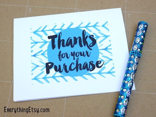 Free Printables - Thank you cards for your Etsy Business - EverythingEtsy.com