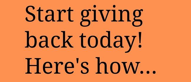 Start Giving Back - EverythingEtsy.com