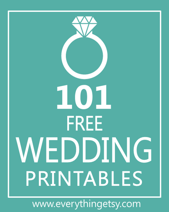 101 free wedding printables
