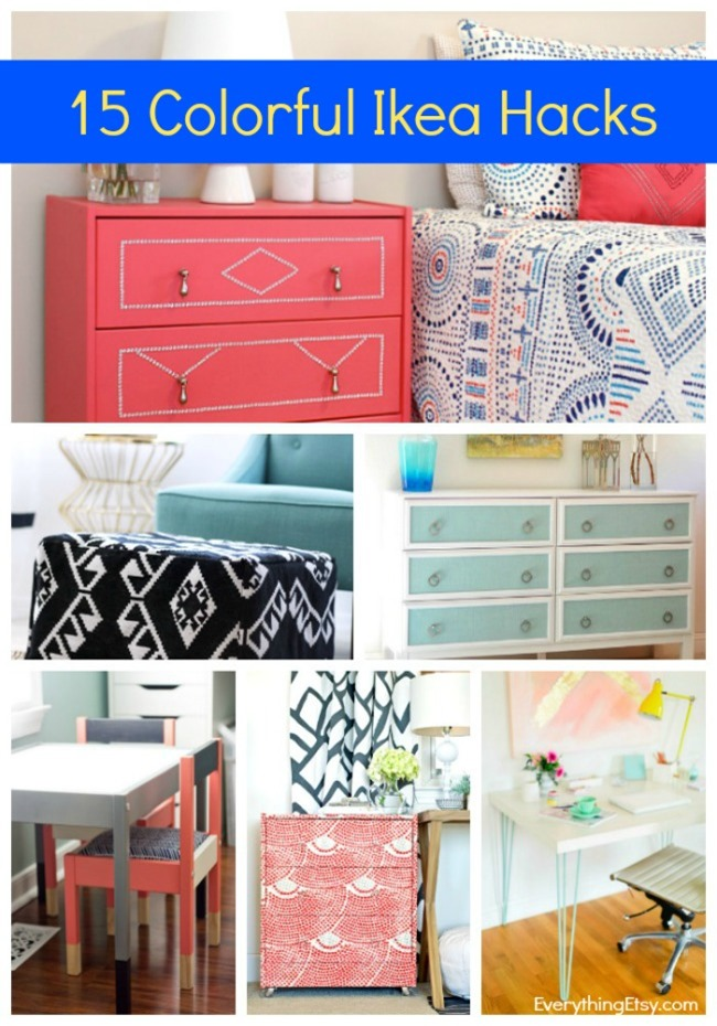 15 Ikea Hacks - Colorful and Chic DIY Ideas for Your Home! EverythingEtsy