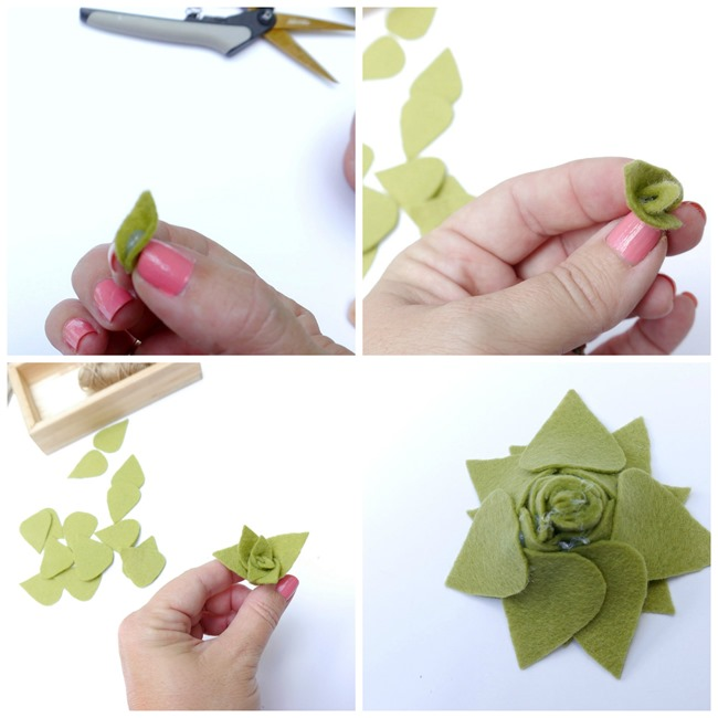 Creating a Felt Succulent by Kim Layton