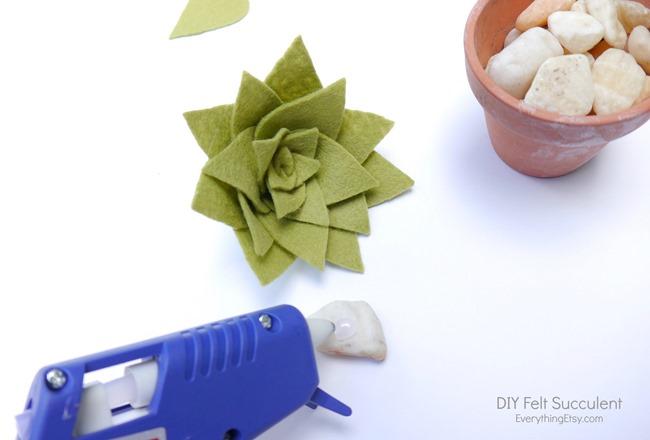 DIY Felt Succulent by Kim Layton 10