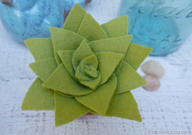 DIY Felt Succulent by Kim Layton 12