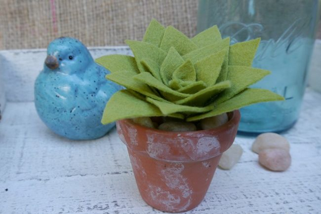 DIY Felt Succulents for Your Home