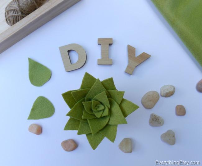 DIY Felt Succulent by Kim Layton 3