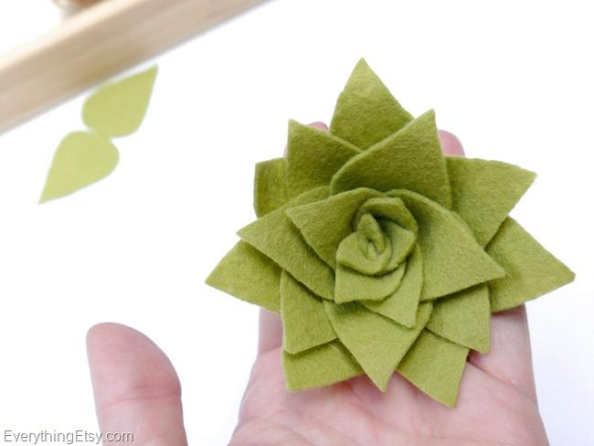 DIY Felt Succulent by Kim Layton 8