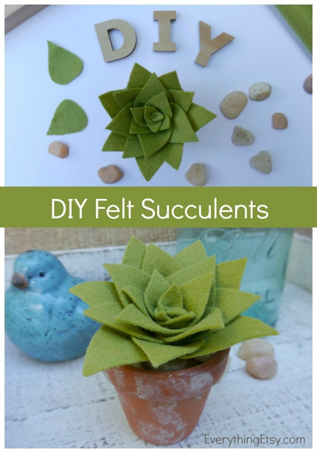 DIY Felt Succulents for Your Home - EverythingEtsy.com