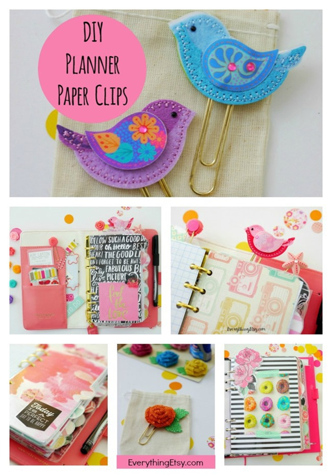 DIY Planner Paper Clips & Ideas on EverythingEtsy