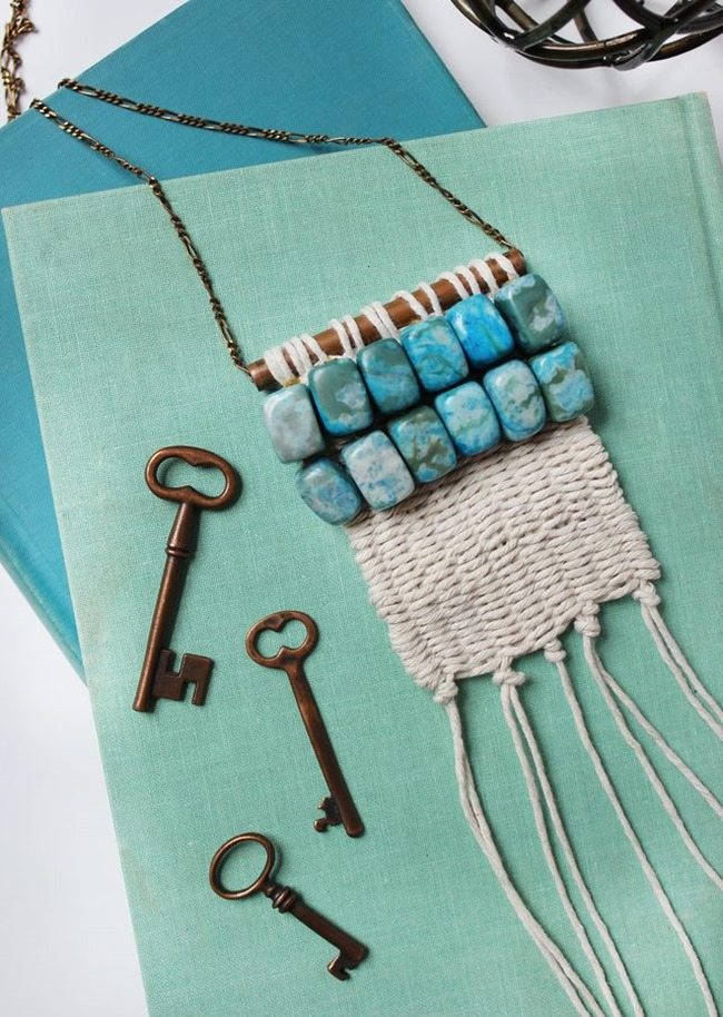 DIY Weaving Projects - Necklace