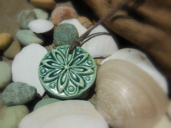 Essential Oil Jewelry - Clay Pendant