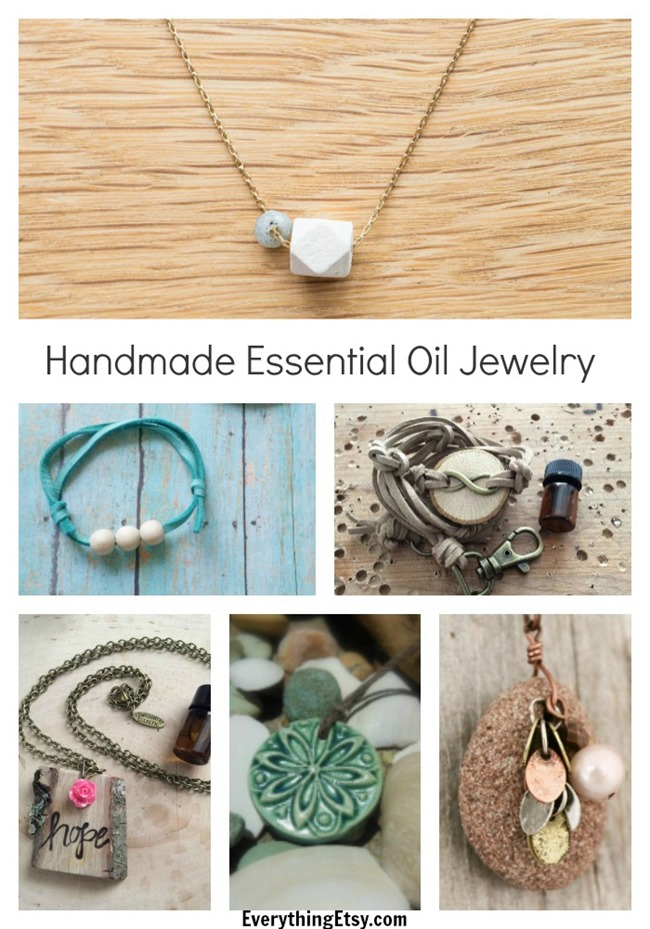 Essential Oil Jewelry - Handmade Gifts on EverythingEtsy.com
