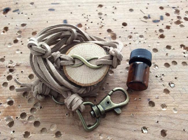 Essential Oil Jewelry - handmade wood bracelet