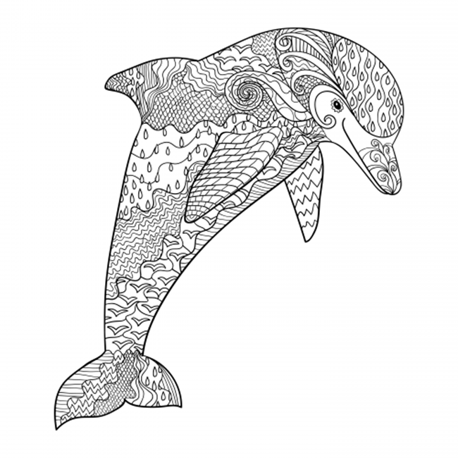 Free Printable Coloring Pages for Summer - Dolphin