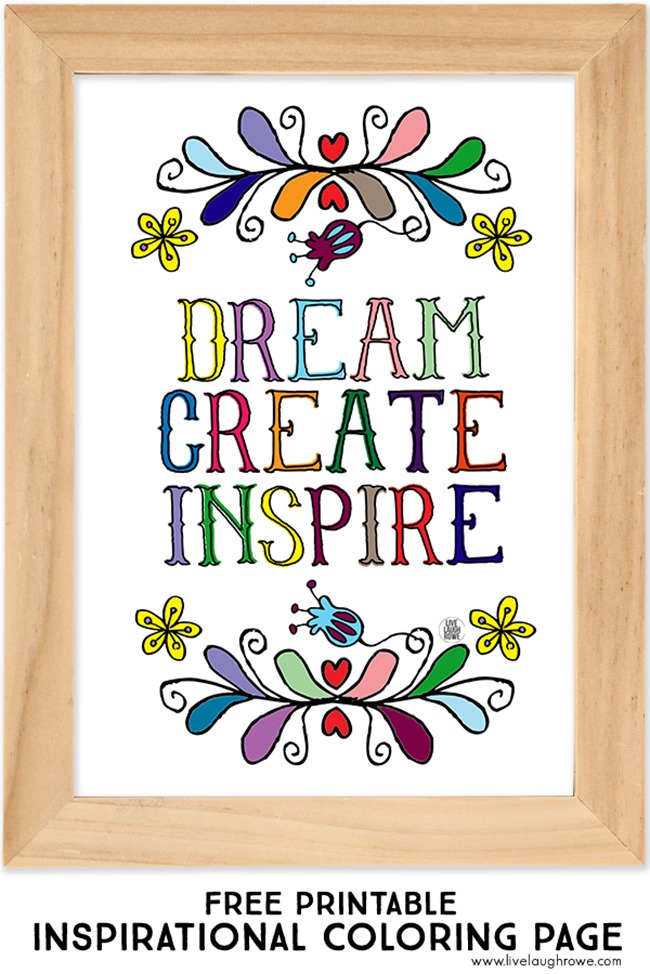 Inspirational Coloring Page Free Printable Quote