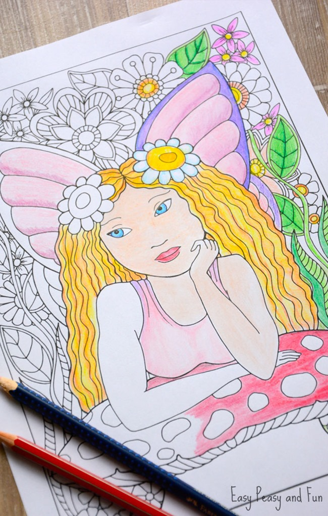 Free Printable Coloring Pages for Summer - Little Fairy