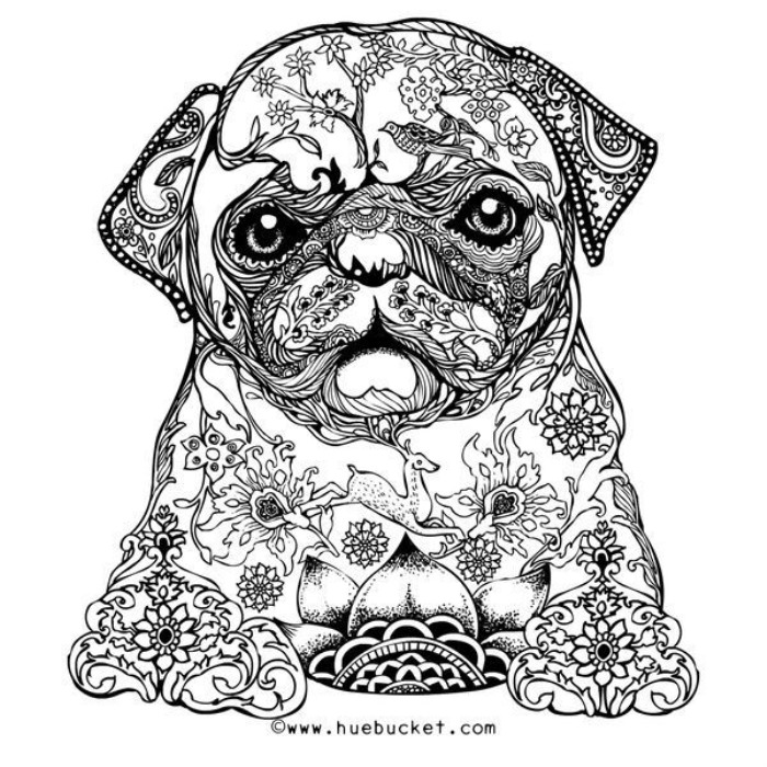 free printable coloring pages for summer puppy - Adult Color Pages