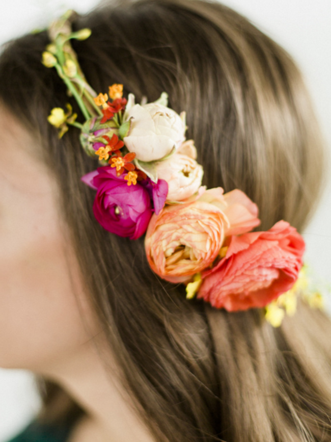 How to Make a Flower Headband from Style Me Pretty