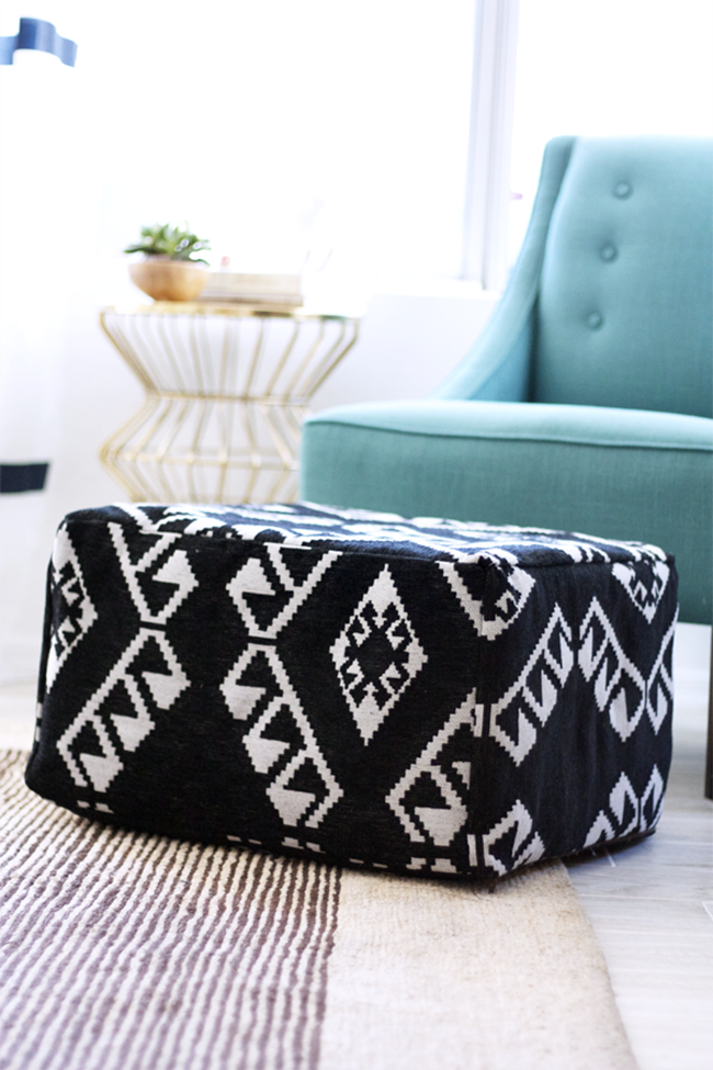 Ikea Hack - Chic Footstool Makeover