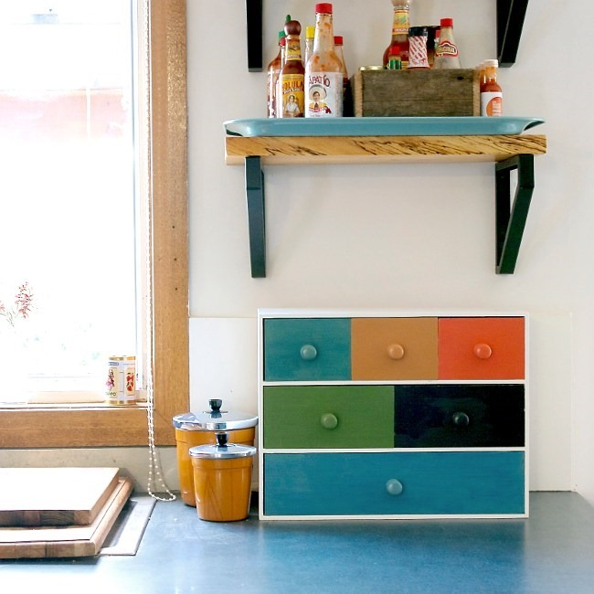 Ikea Hack - Colorful Kitchen Organizer