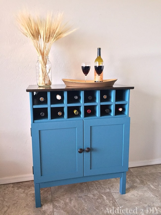 Ikea Hack - Colorful Wine Bar DIY