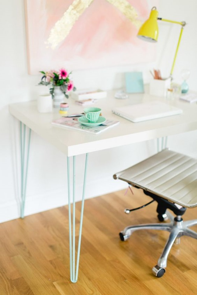 Simply Modern DIY Ikea Hack Desk – Style Me Pretty