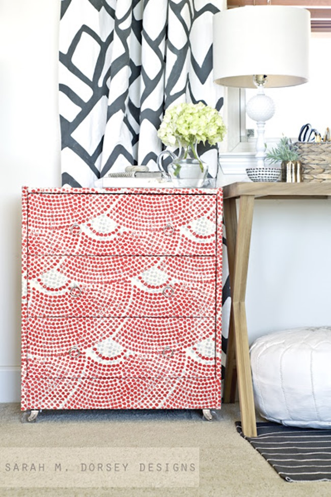 Ikea Hack - Wallpaper Covered Rast Hack