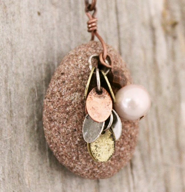 essential oil jewelry - stone diffuser necklace