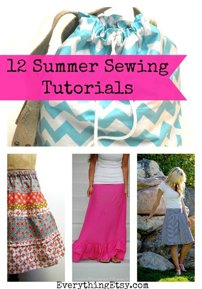 12 Simple Summer Sewing Patterns - Free on EverythingEtsy