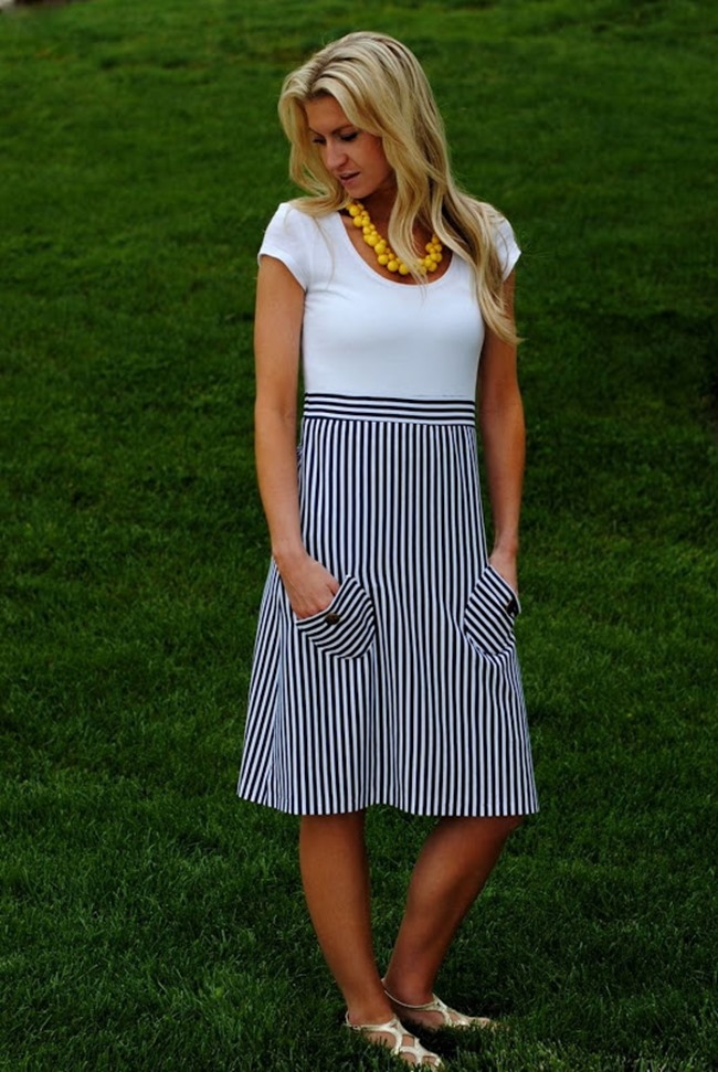 Summer Dress Pattern - Nautical style tutorial