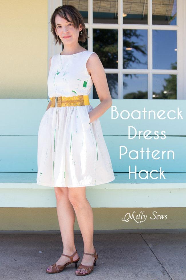 Summer Dress Pattern - boatneck dress hack