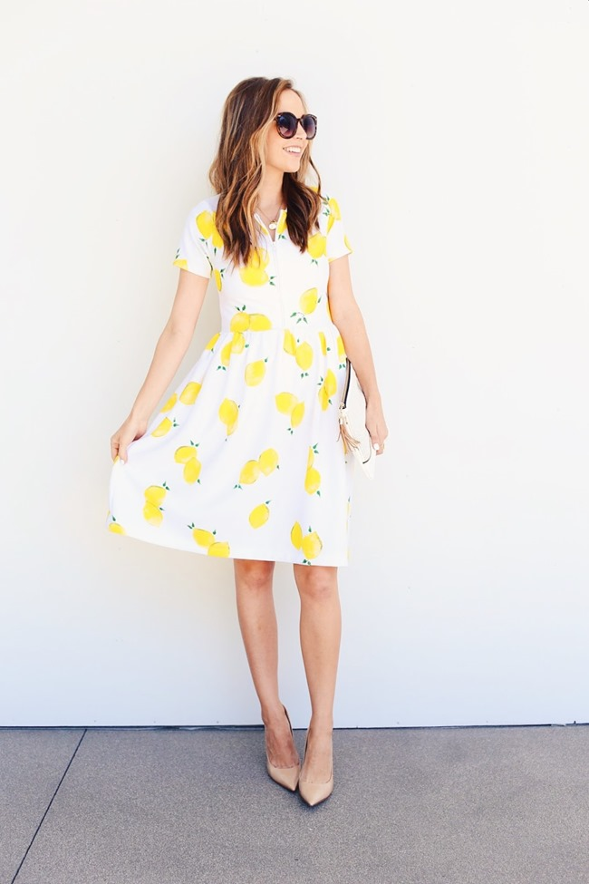 Summer Dress Sewing Pattern - Lemons