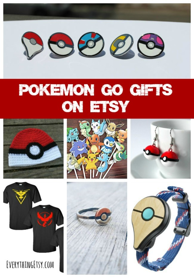 12 Pokemon Go Gift Ideas on Etsy - See them at EverythingEtsy.com