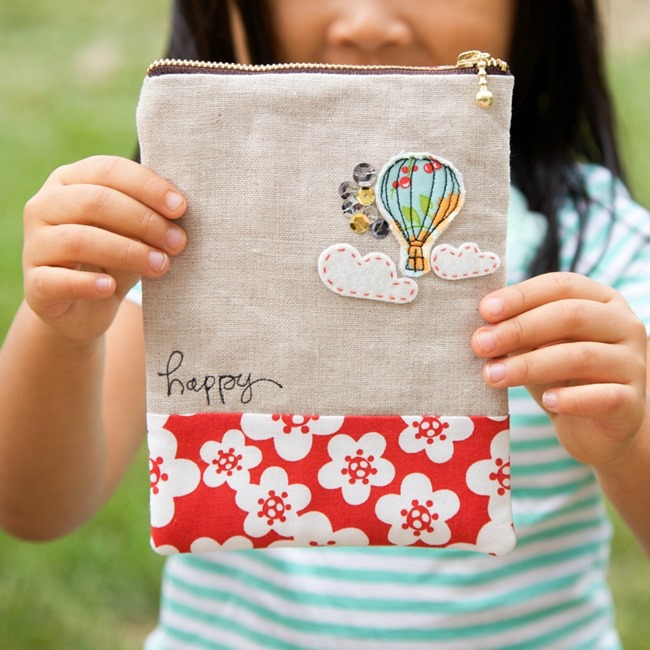 Hot Air Balloon Zipper Pouch Tutorial