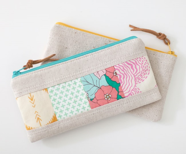 Patchwork Zipper Pouch Tutorial - LGB