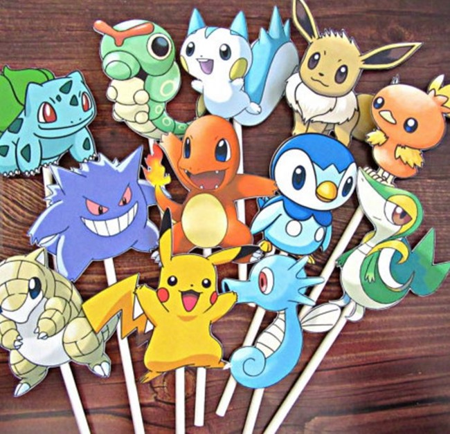 Pokemon Go Gift Ideas on Etsy - Cupcake Toppers
