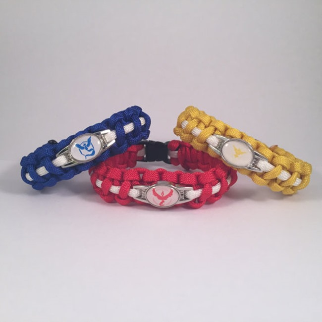 Pokemon Go Gift Ideas on Etsy - Paracord Bracelet