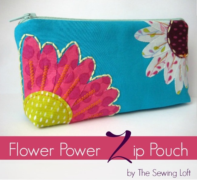 Zipper Flower Bag Tutorial - The Sewing Loft Blog