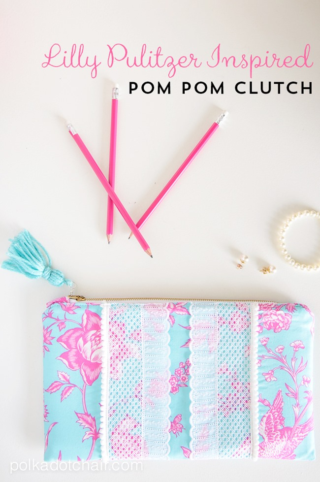 Zipper pouch tutorial - summer