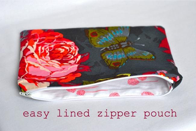zipper bag tutorial - lined