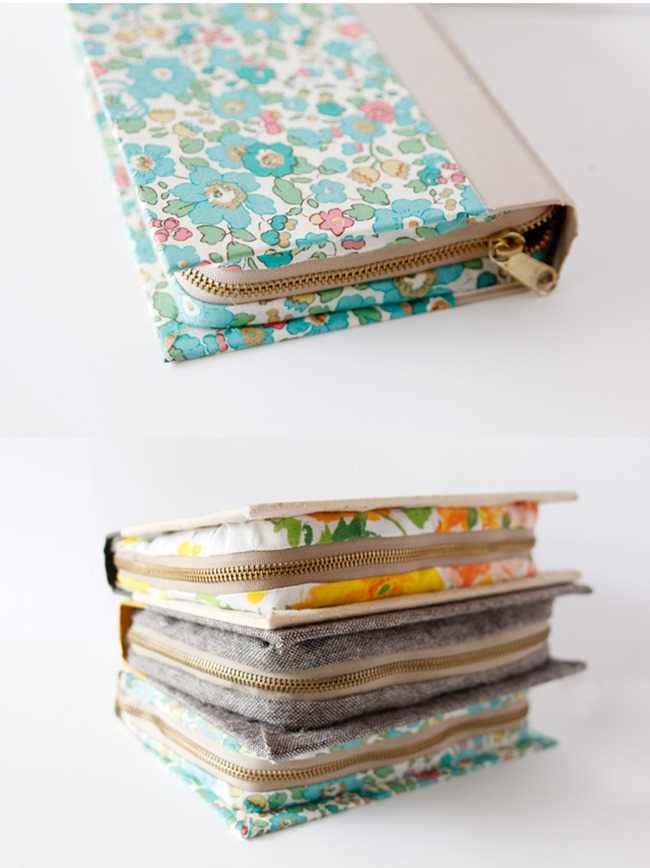 zipper pouch book clutch tutorial