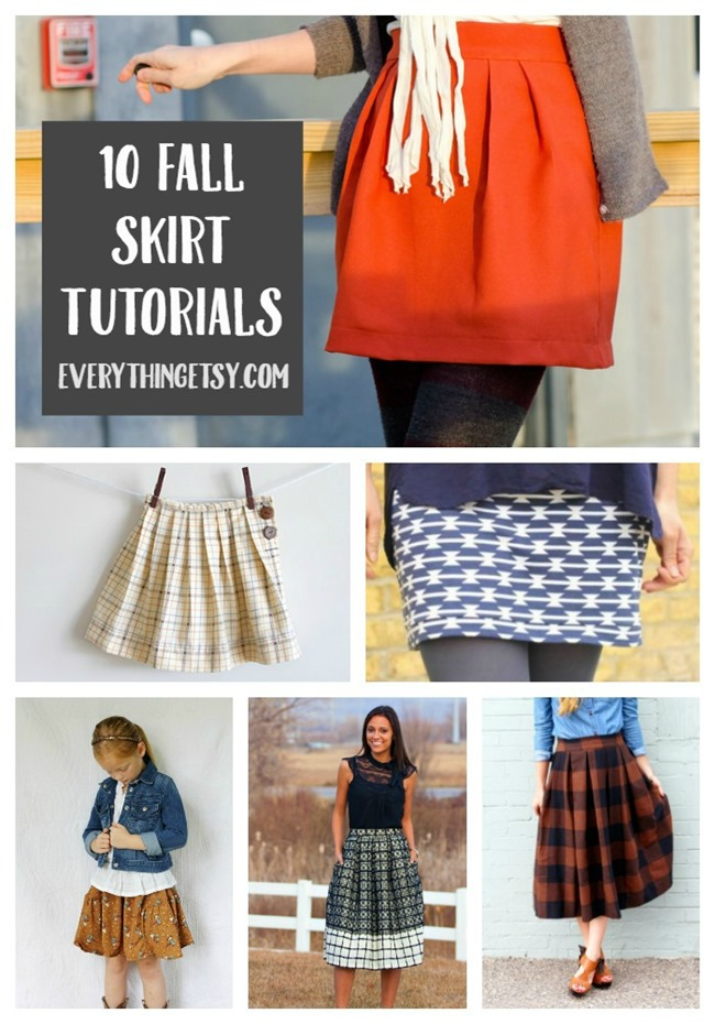 10 Fall Skirt Tutorials {Free Patterns} - EverythingEtsy.com