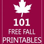 101 Free Fall Printables {DIY Goodness}