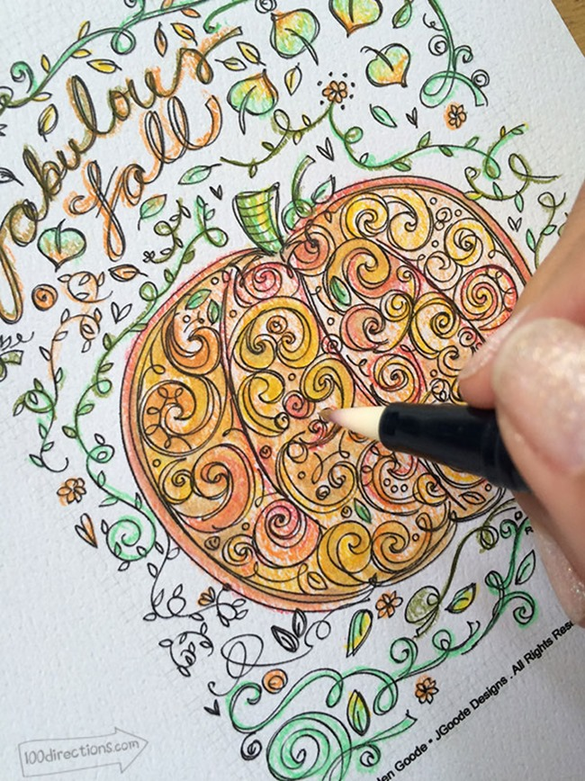 12 Fall Coloring Pages for Adults - Fall Pumpkin