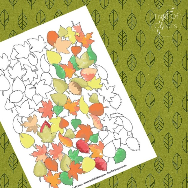 12 Fall Coloring Pages for Adults - Lots of Leaves